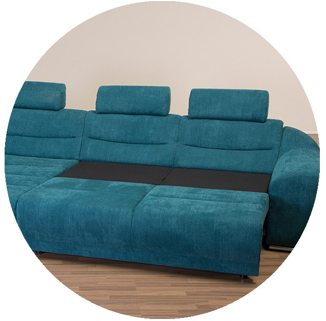 Polo Sectional Sofa with sleeper Nordholtz Furniture