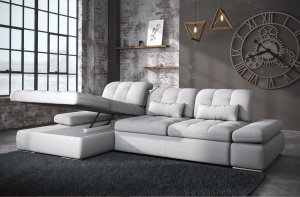 Alpine Sectional Sofa Bed and Storage - photo №10