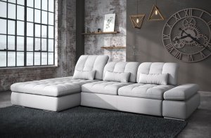 Alpine Sectional Sofa Bed and Storage - photo №8