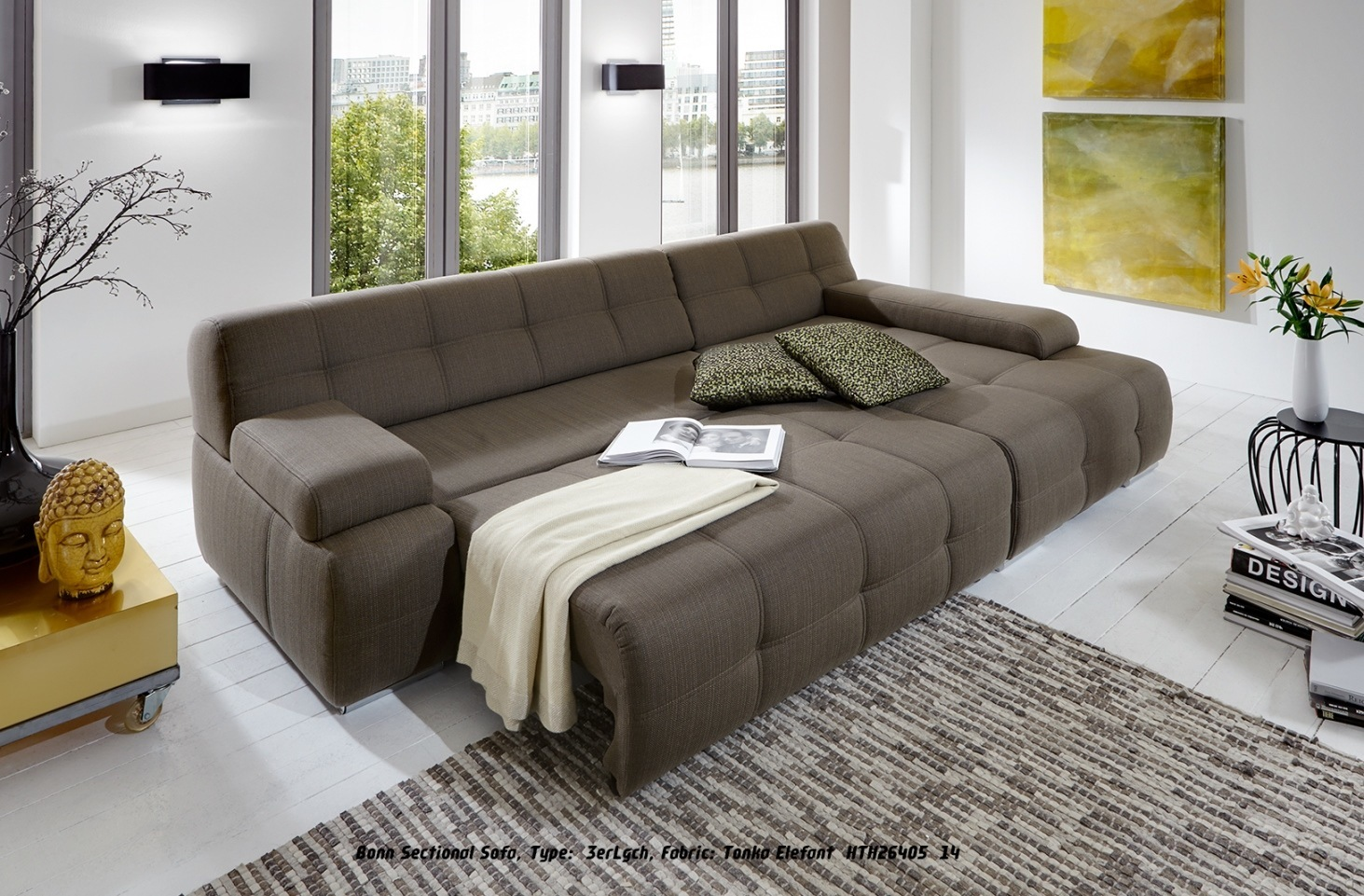 sofa bonn perfect seater sofa in super velvet fabric silver grey with base in brown leather. Black Bedroom Furniture Sets. Home Design Ideas