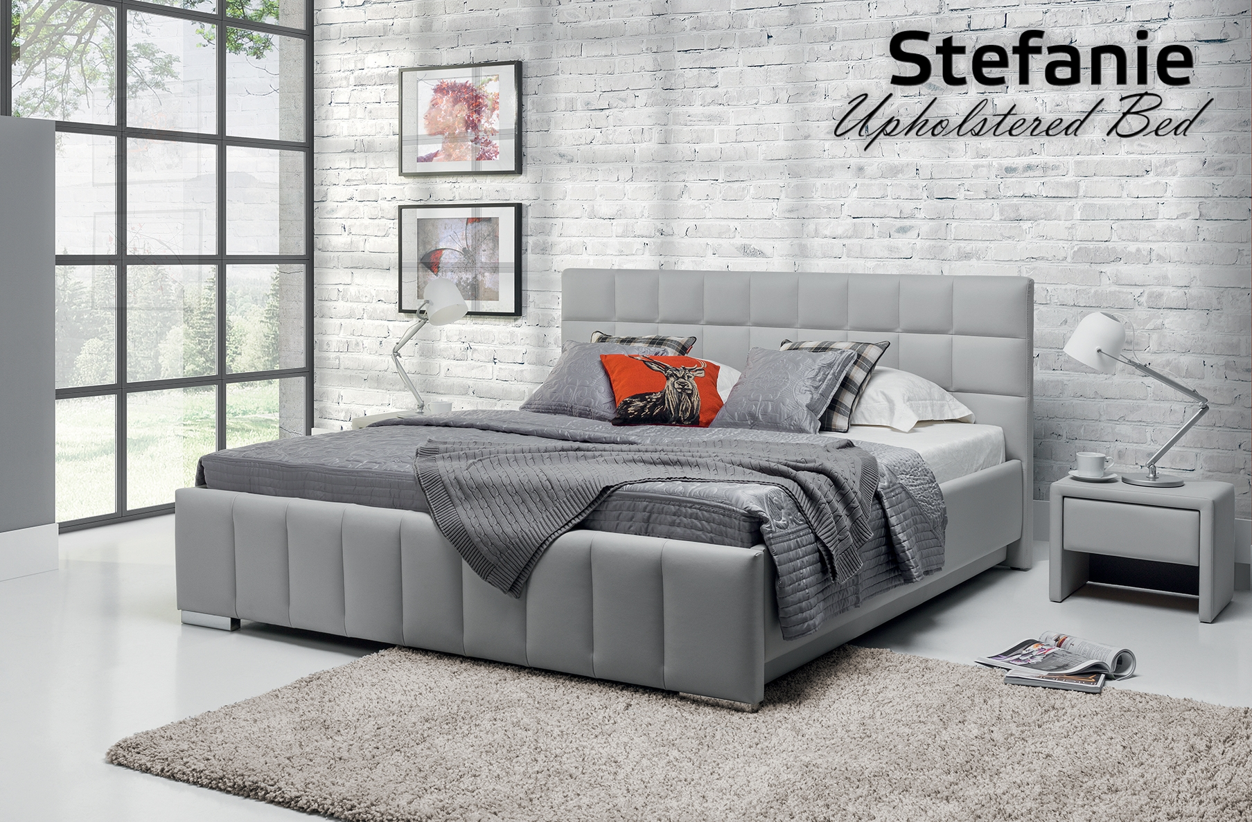 Stefanie Upholstered Bed, Cheap