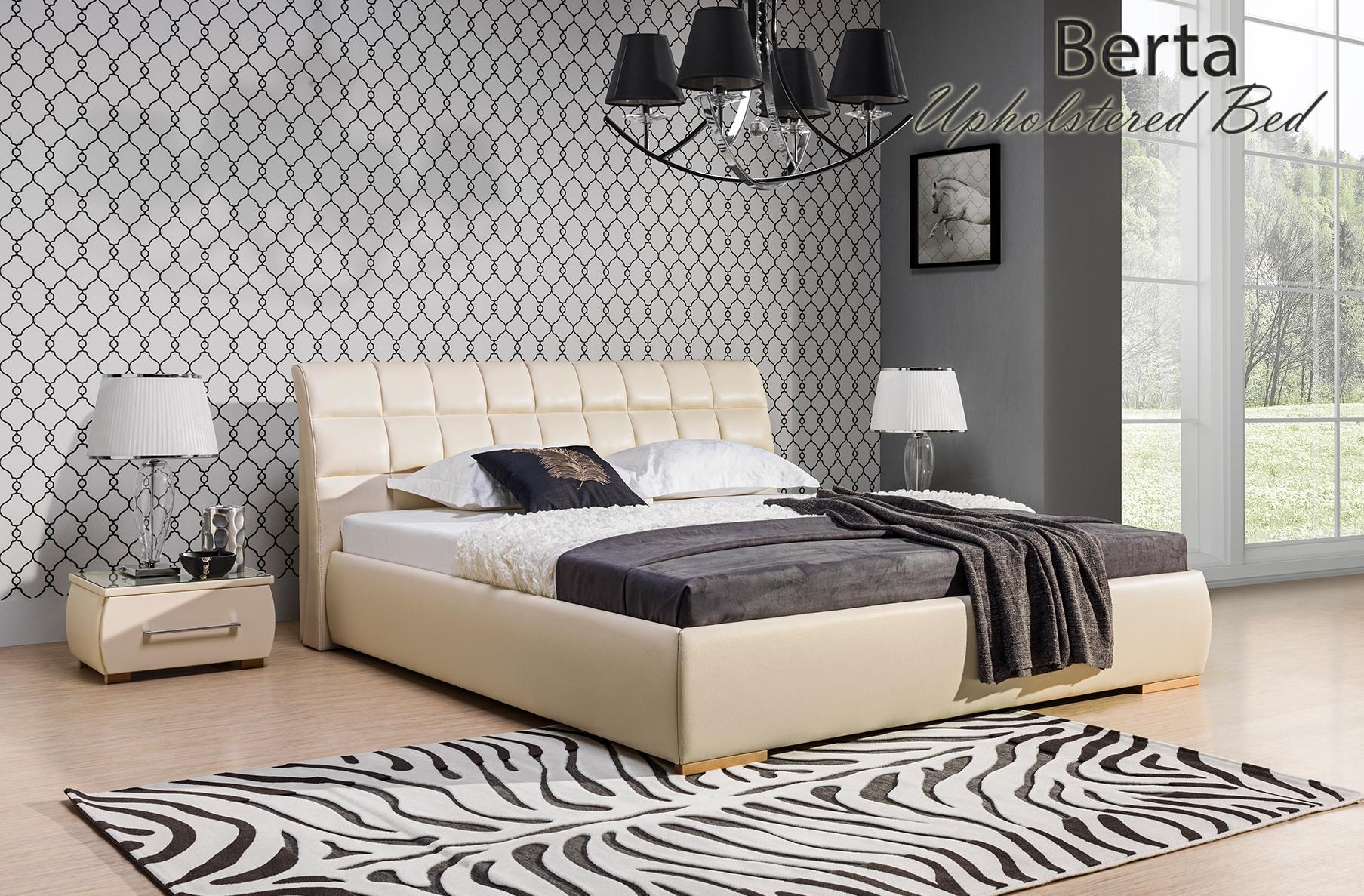Berta Upholstered Bed, Cheap