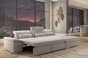 Alpine-X Grey Fabric Sectional with bed | Nordholtz