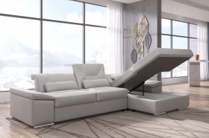 Alpine-X Grey Fabric Sectional | Nordholtz