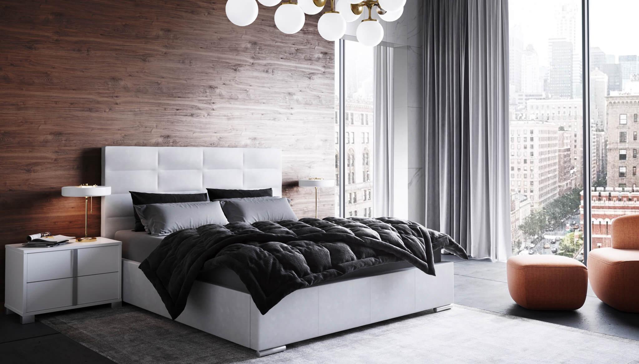Helga White bed with underbed storage   Nordholtz Furniture