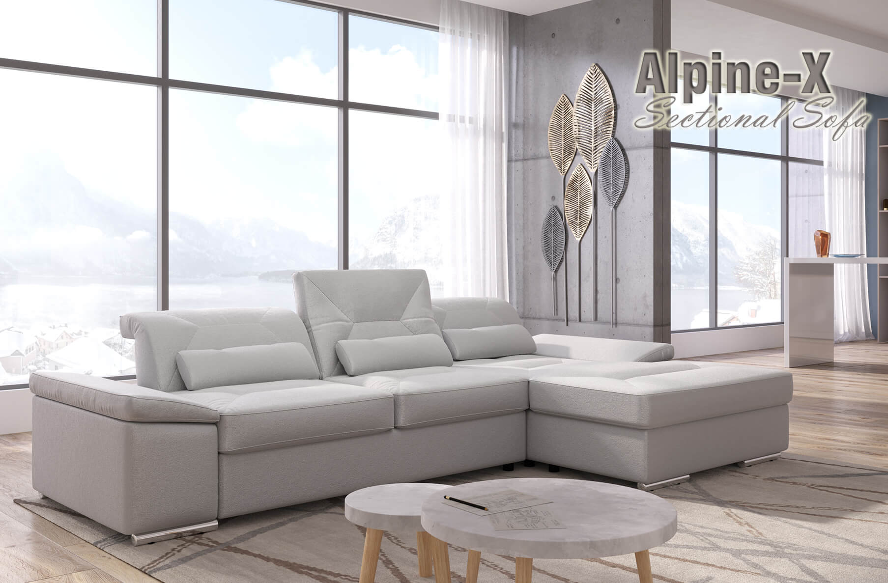 Alpine-X Sectional with bed and storage | Nordholtz
