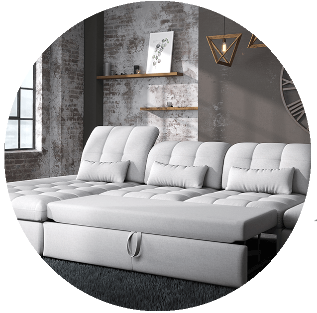 Alpine Sectional Sofa Bed and Storage - photo №6