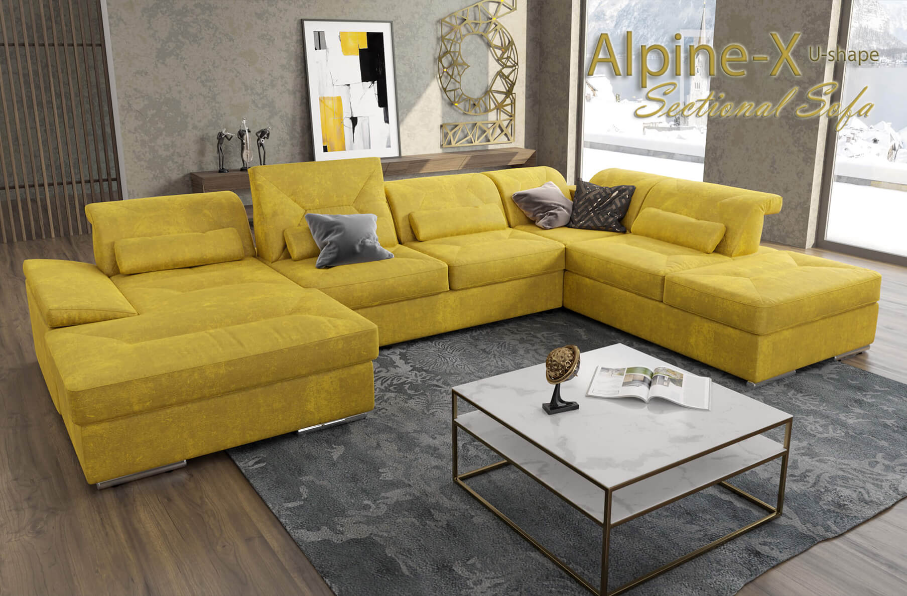 Alpine-X Sectional Sofa U-shape   Nordholtz