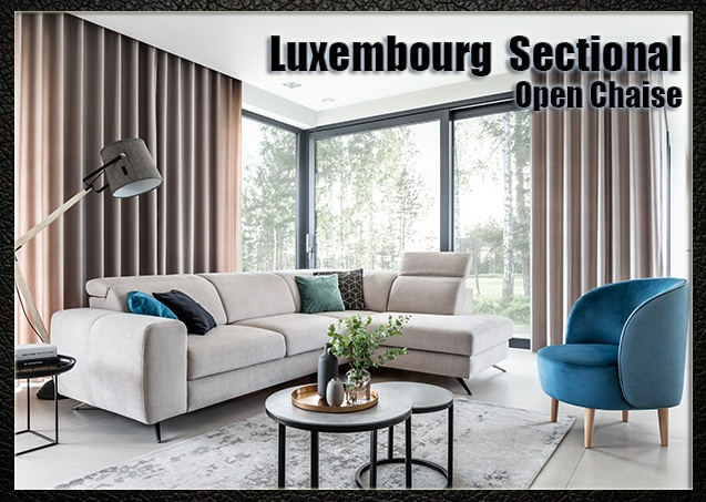 Luxembourg Sectional Open Chaise | Nordholtz