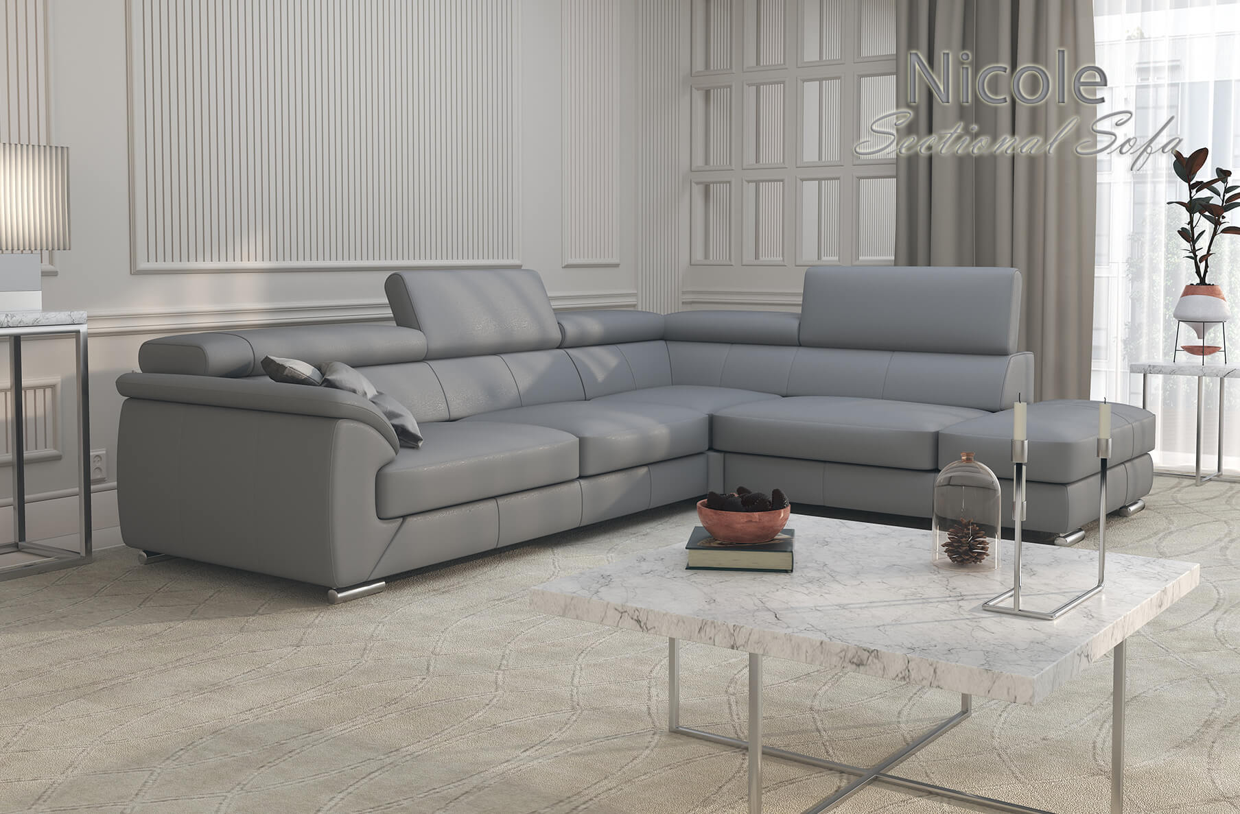 Nicole Sectional Sofa, Cheap