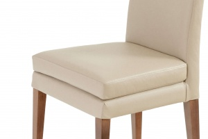 Elke Walnut Beige Leather Chair - photo №8
