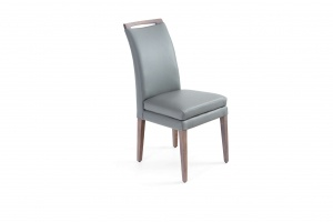 Elke Ash Gray Gray Leather Chair, In New Jersey