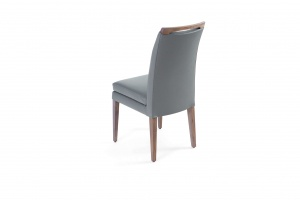 Elke Ash Gray Gray Leather Chair, Order