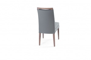 Elke Ash Gray Gray Leather Chair, Nordholtz