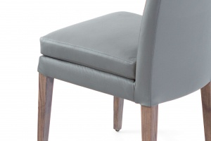 Elke Ash Gray Gray Leather Chair - photo №6