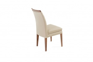 Elke Walnut Beige Leather Chair, Nordholtz