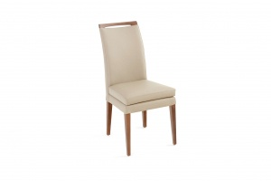 Elke Walnut Beige Leather Chair, Order