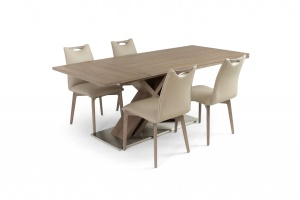 Alster X base table with Ritz leather chairs, Online Store