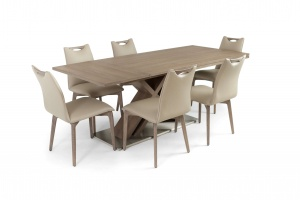 Alster X base table with Ritz leather chairs - photo №6