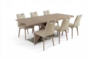 Alster X base table with Ritz leather chairs - photo №7