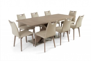 Alster X base table with Ritz leather chairs - photo №8