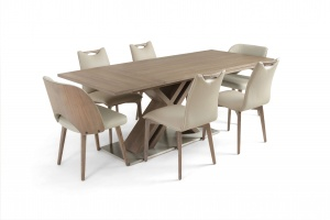 Alster X base table with Ritz leather chairs - photo №11