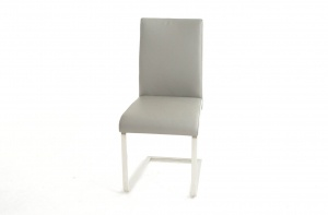 Havel Stainless Steel Gray Leather Dining Chair, Online Store